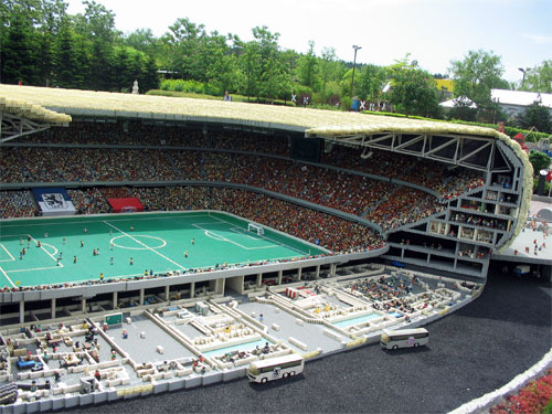 This stadium is in a smaller scale